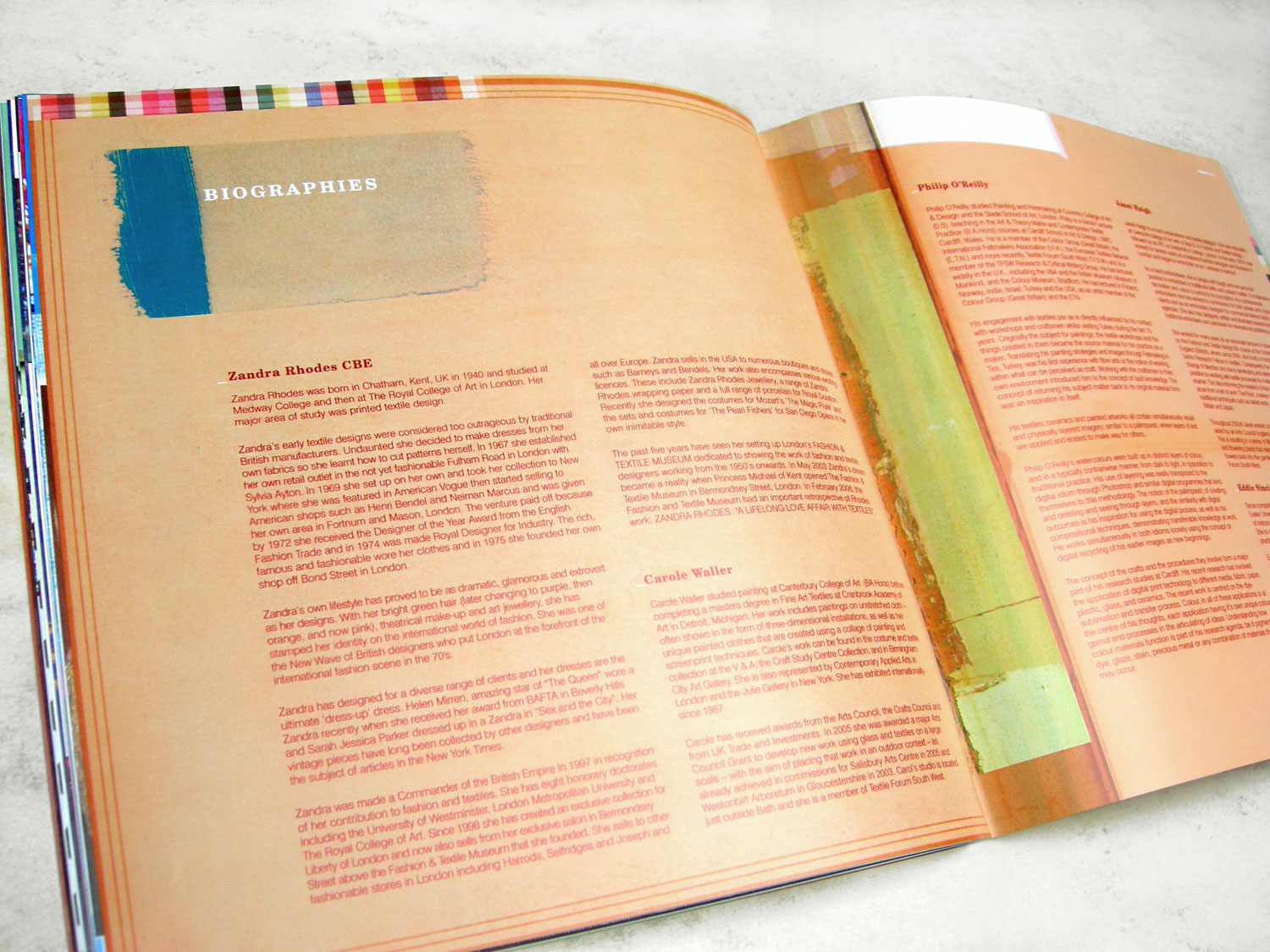 'ColourStory' Biographies Spread
