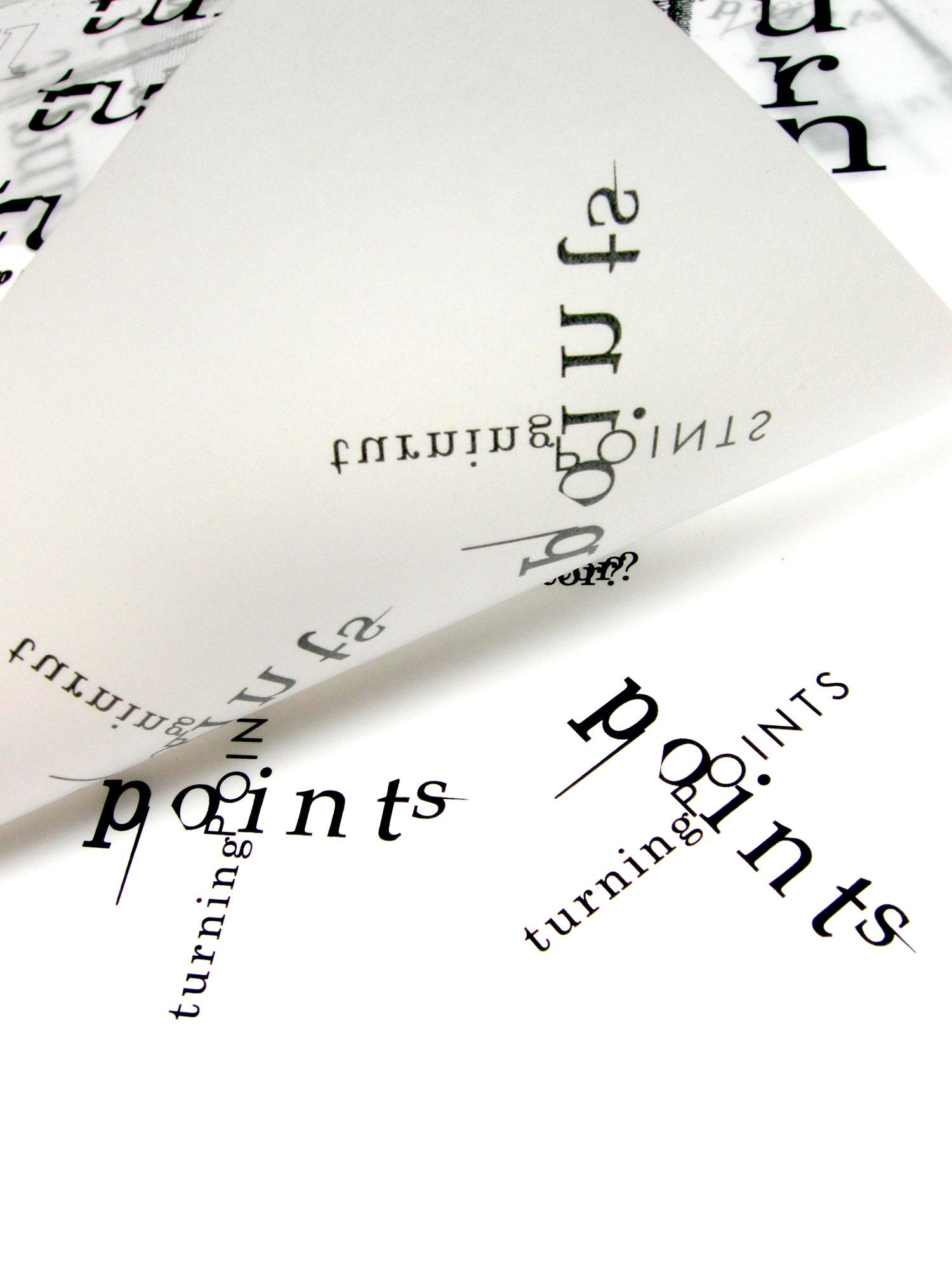 'Turning Points' Typographic Identity Development