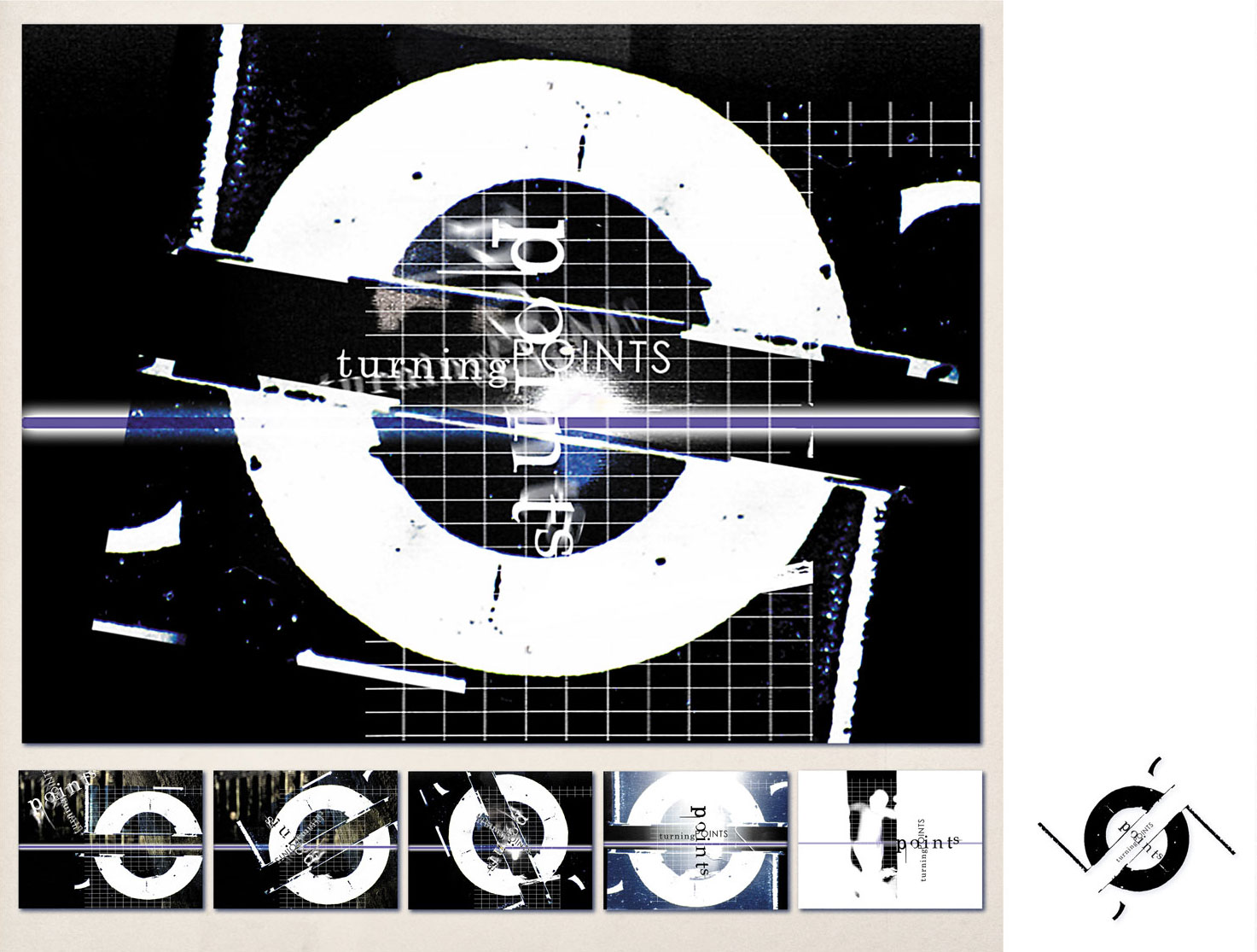 'Turning Points' Typographic Sequential Storyboard 5