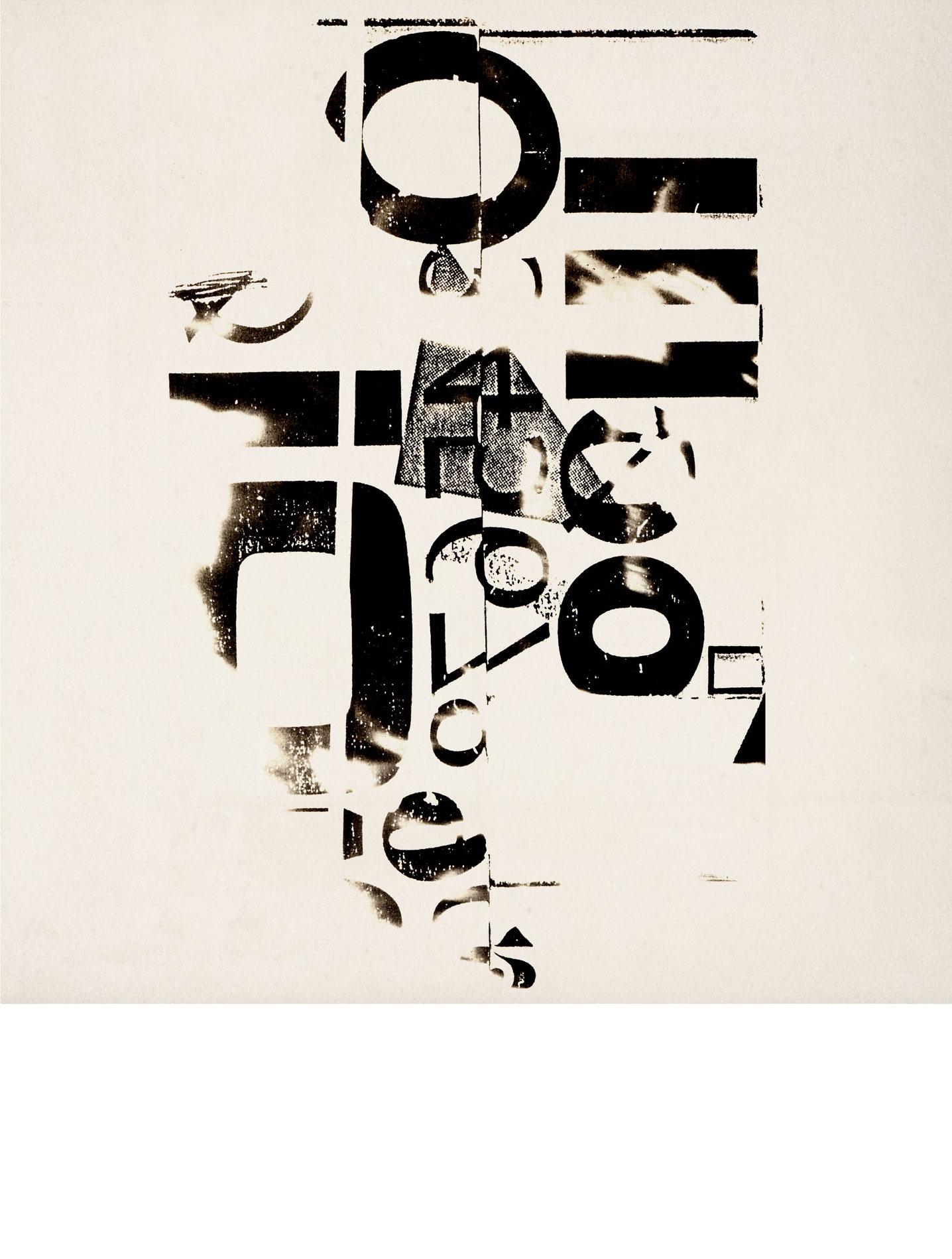'Turning Points' Typographic Photogram
