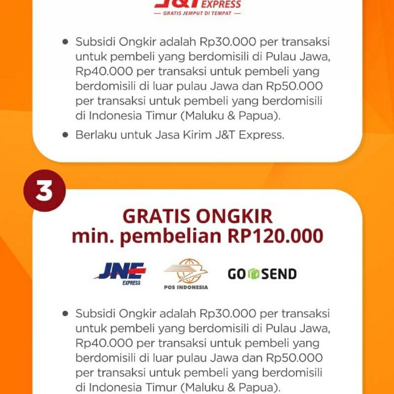 Manfaatkan Free ongkir sampai Rp50,000 melalui pembelian di Shopee.