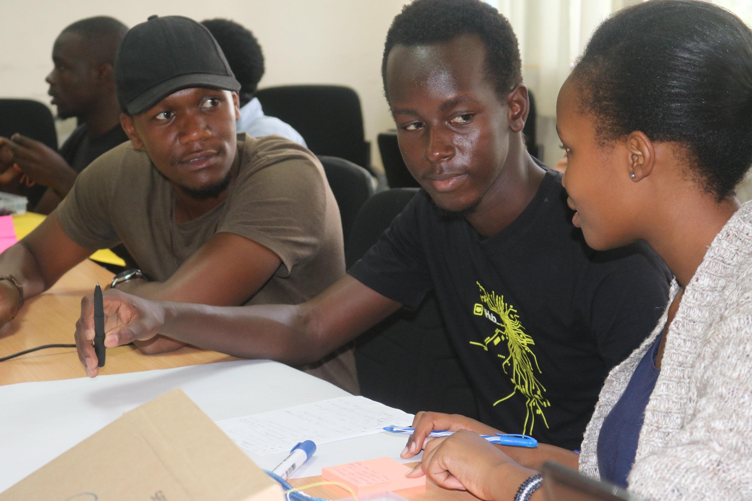Students brainstorming