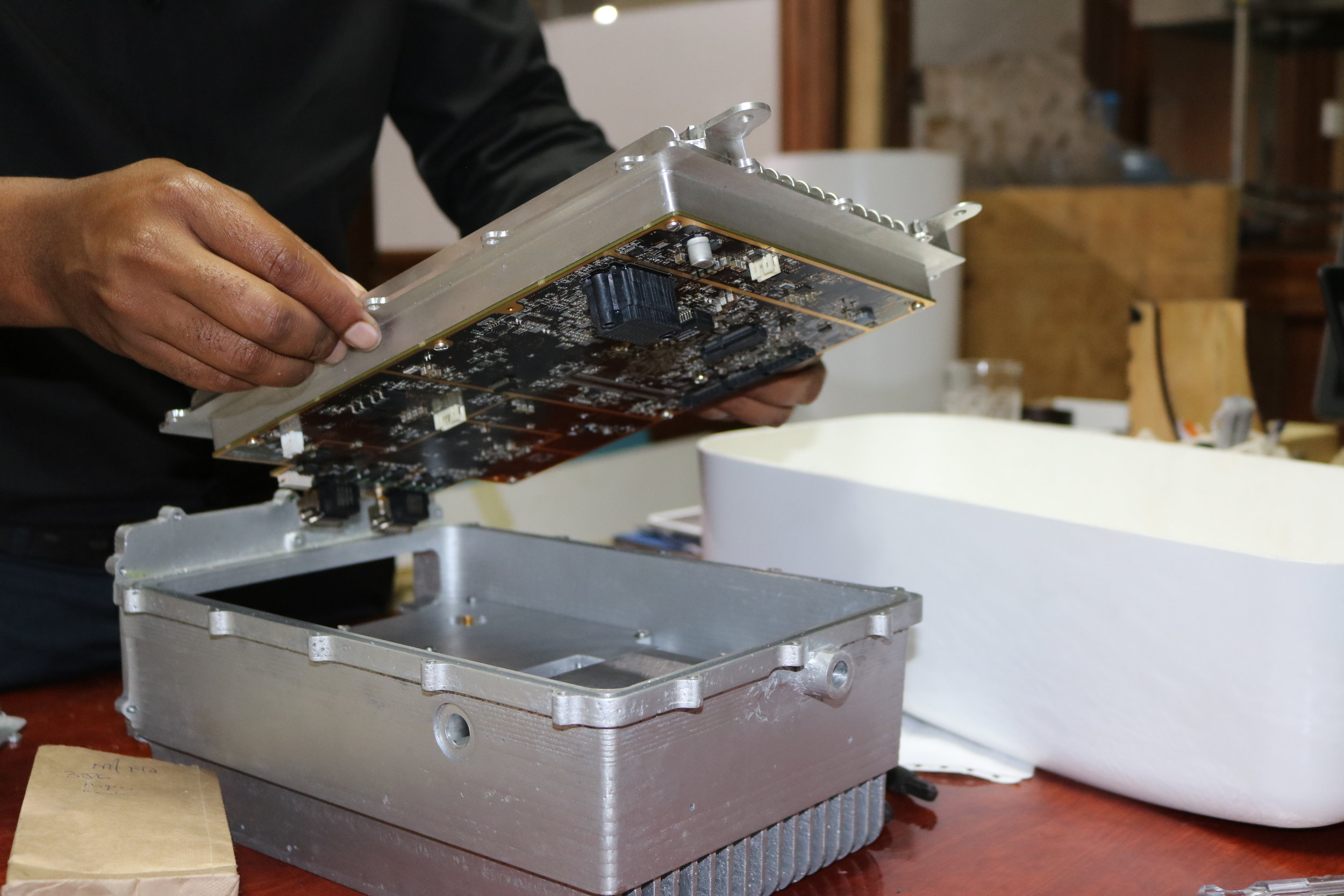 Gearbox was contracted by Facebook to build a case for an open cellular device, a device aimed at improving connectivity in remote areas.