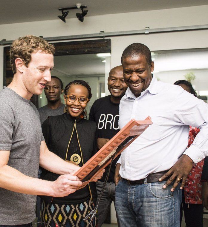 Dr Kamau Gachigi of Gearbox meets the facebook CEO in Nairobi
