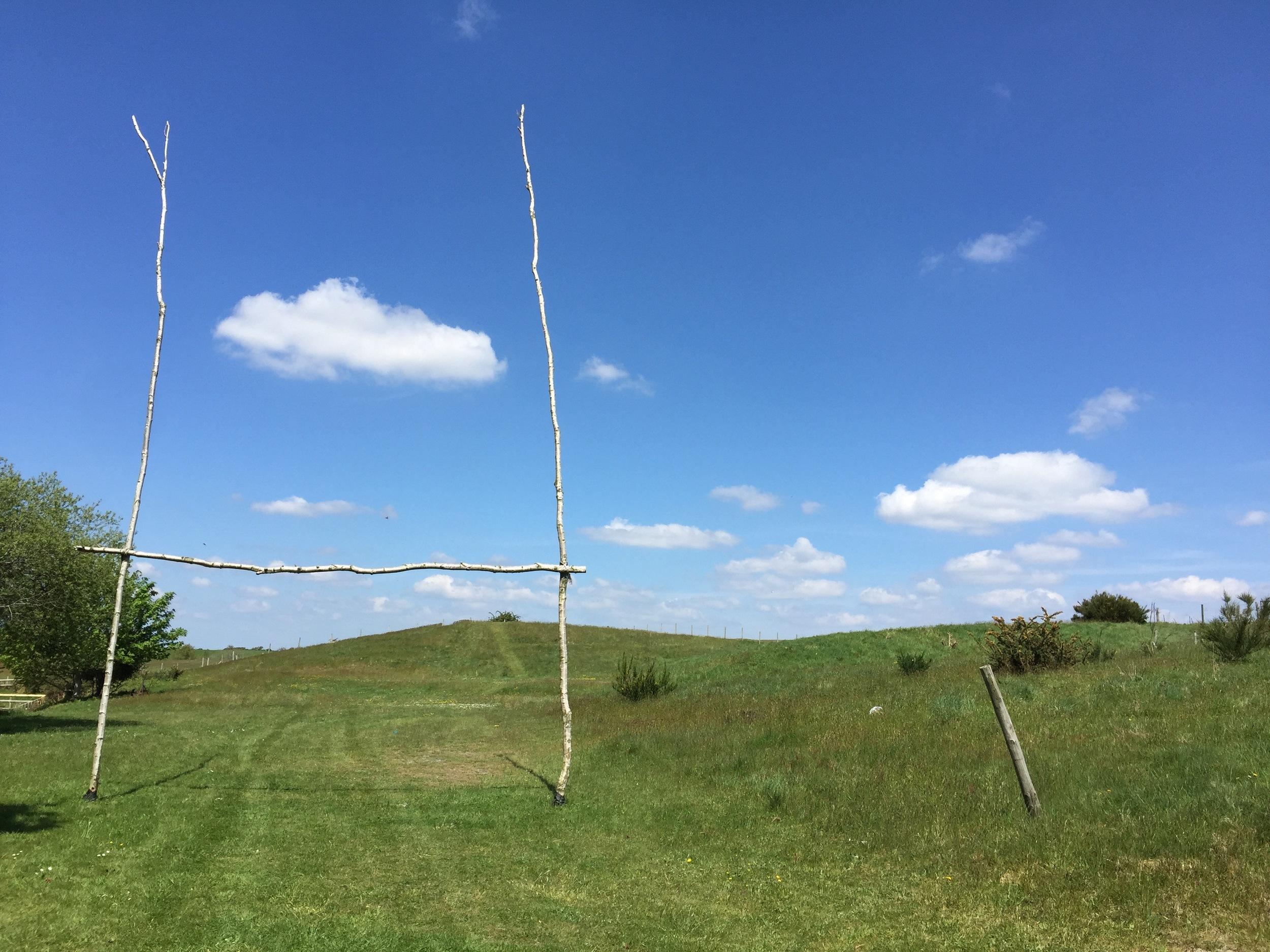 Camp Hartland rugby goalposts
