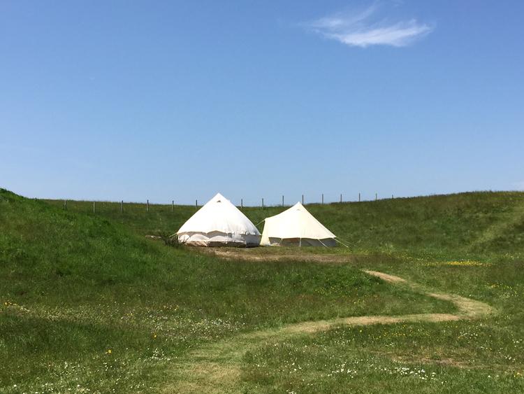 Camp Hartland tents