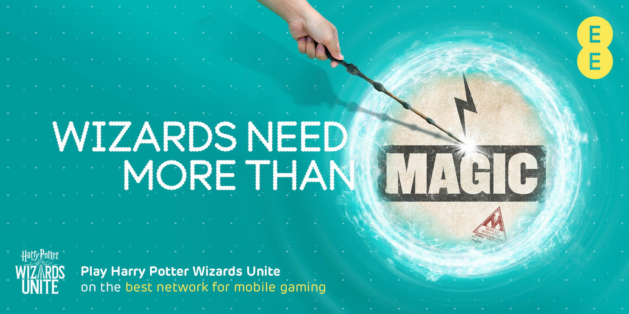 EE partnered with Harry Potter Wizards Unite mobile AR game.