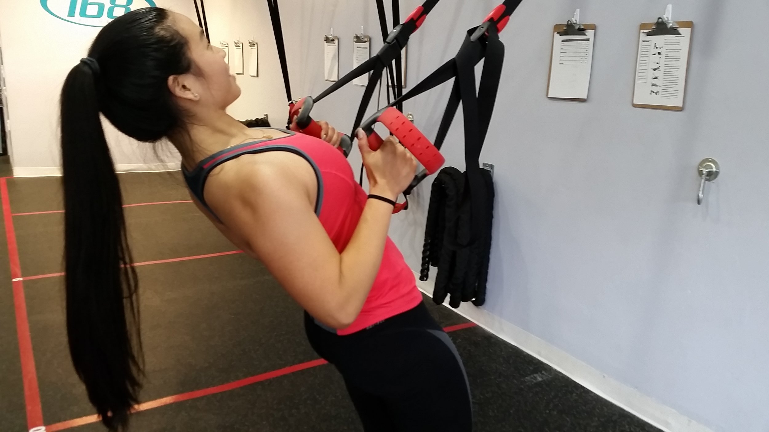 Suspension Rows are a great way to get ready for those pesky pull ups.
