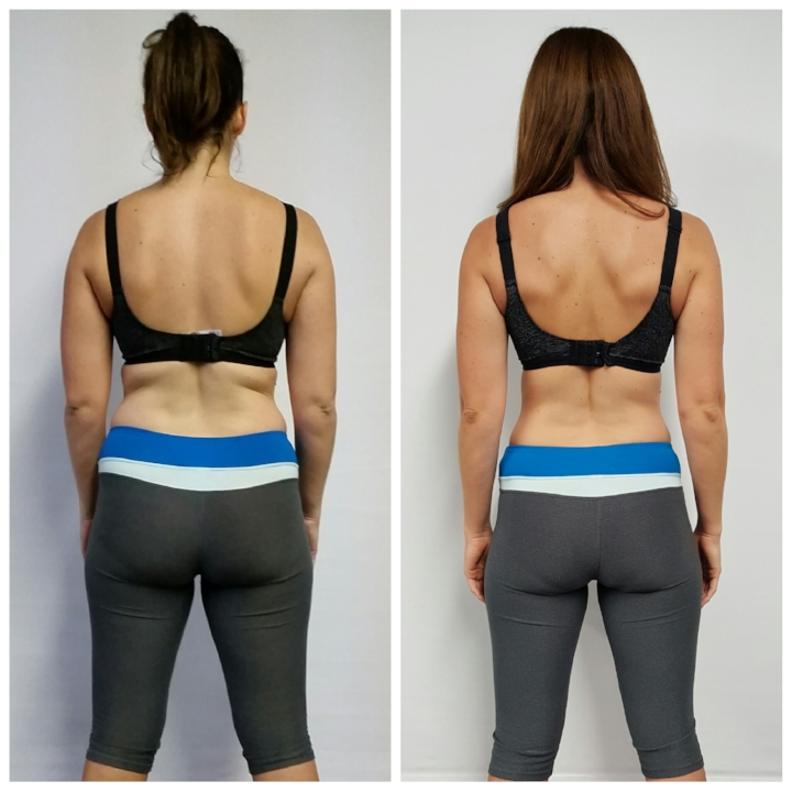 Heidi before and after back view