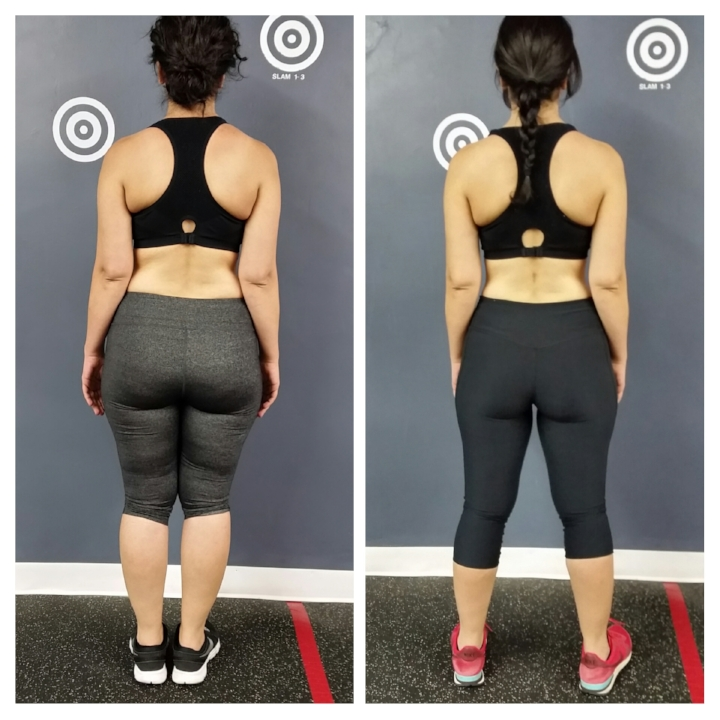 Edita before and after back view