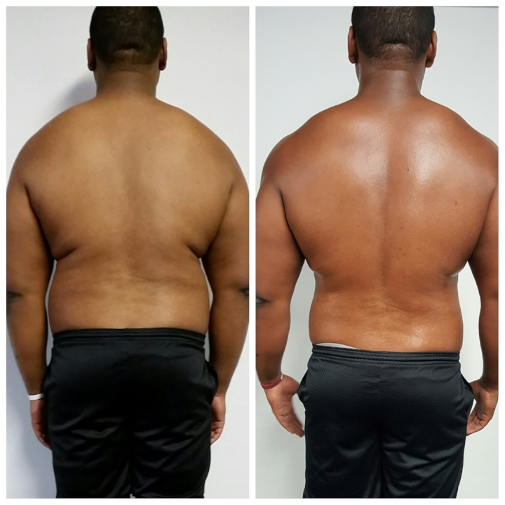 Brian before and after back view