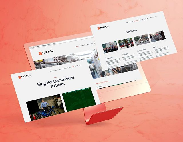 The website design for Transforming urban transport the role of political leadership (TUT-POL), a research project I was part of and that investigated transportation and governance.