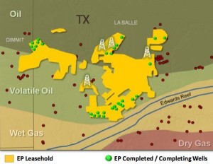El Paso Corp Eagle Ford Shale Map