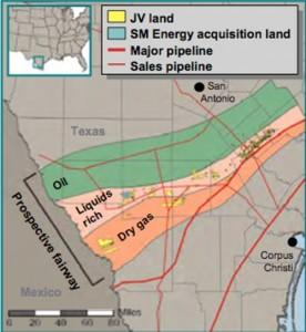 Talisman Energy - Statoil Eagle Ford Shale Map