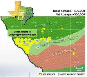 Anadarko Eagle Ford Shale Map