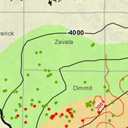 Zavala County Eagle Ford Shale Map