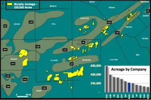 Murphy Oil Eagle Ford  Shale Map
