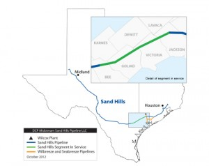 DCP Sand Hills Pipeline Map - Eagle Ford Segment