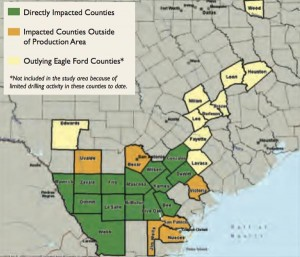 Eagle Ford Shale Impact Map