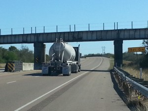 Tanker Truck on the Highway