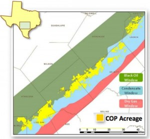 ConocoPhillips Eagle Ford Acreage Map