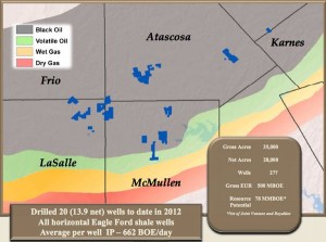 Comstock Resources Eagle Ford Map
