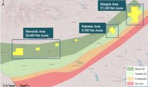 Sanchez Energy Eagle Ford Shale Map
