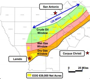 EOG Eagle Ford Shale Acreage Map