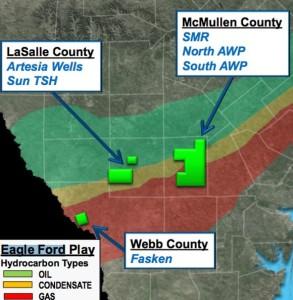 Swift Eagle Ford Acreage Map