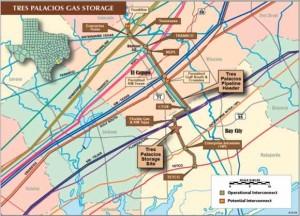 Tres Palacios Pipeline Header and Storage