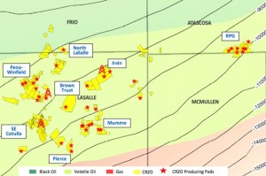 Carrizo Oil &Gas Eagle Ford Well Pad Map