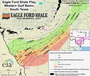 Eagle Ford Contour Map