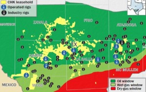 Chesapeake Eagle Ford Drilling Map
