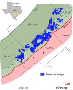 Devon Energy Eagle Ford Acreage Map