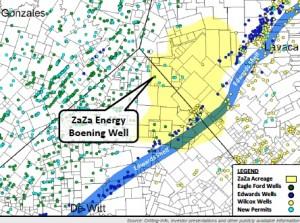 ZaZa Energy Sweet Home DeWitt County Eagle Ford Acreage