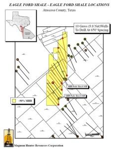 Magnum Hunter Resources Eagle Ford Acreage Map