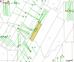 Abraxas Petroleum, Cave Prospect Map