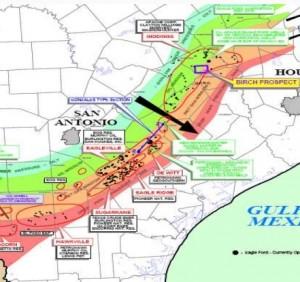 Austin Exploration Eagle Ford Acreage Map