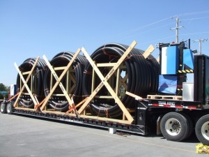 Spoolable Composite Pipe on Truck