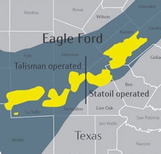 Statoil and Talisman Eagle Ford Acreage Map