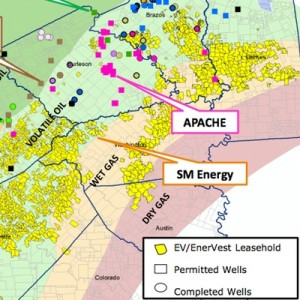 EVEP/EnerVest Eagle Ford Acreage Map