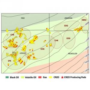 Carrizo Eagle Ford Acreage Map