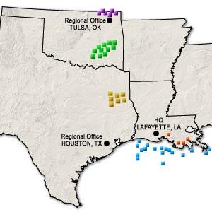 PetroQuest, Inc. Operations Map