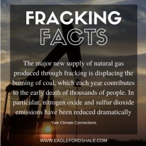 Fracking healthier than coal