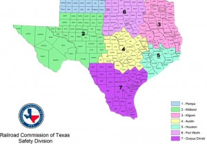 Eagle Ford Shale Pipeline Safety Divisions Map