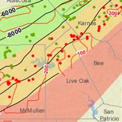 Live Oak County Eagle Ford Shale Map