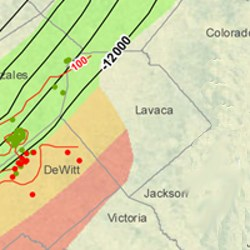 Lavaca County Eagle Ford Shale Map