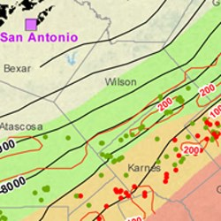 Wilson County Eagle Ford Shale Map
