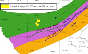 Goodrich Petroleum Eagle Ford Shale Acreage Map