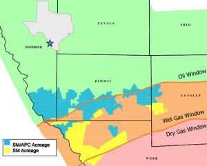 SM Energy Eagle Ford Acreage Map